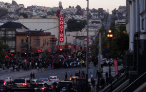 My vantage point across the street from the vigil
