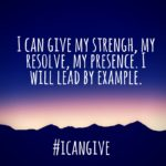 #icangive: Leading by example