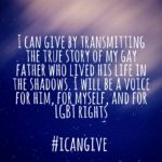 #icangive: Transmitting my Family's Experience